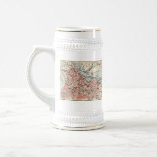 Vintage Map of Amsterdam (1905) (2) Coffee Mug