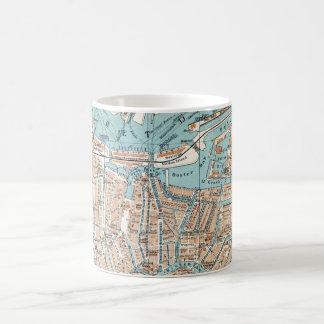 Vintage Map of Amsterdam (1905) Coffee Mug