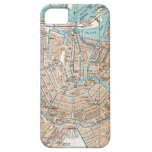 Vintage Map of Amsterdam (1905) iPhone 5 Cover