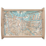 Vintage Map of Amsterdam (1905) Serving Platter