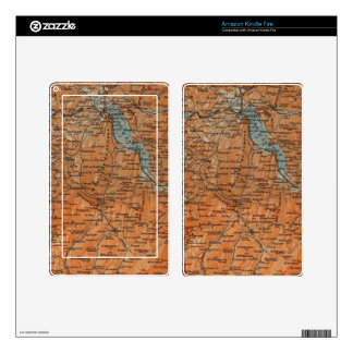 Vintage Map of Annecy France (1914) Kindle Fire Decals