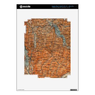 Vintage Map of Annecy France (1914) Skins For iPad 3