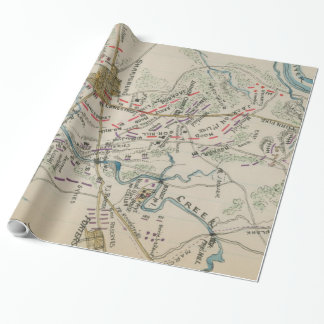 Vintage Map Of Antietam Battlefield 1865 Wrapping Paper