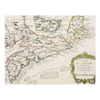 Vintage Map of Arcadia (1757) Postcard