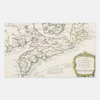 Vintage Map of Arcadia (1757) Rectangular Sticker