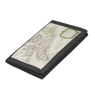 Vintage Map of Arcadia (1757) Trifold Wallets