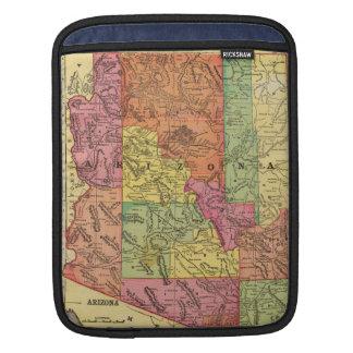 Vintage Map of Arizona (1909) Sleeves For iPads