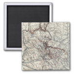 Vintage Map of Arizona (1911) 2 Inch Square Magnet