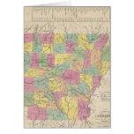 Vintage Map of Arkansas (1853) Card