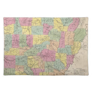 Vintage Map of Arkansas (1853) Placemat