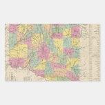 Vintage Map of Arkansas (1853) Sticker