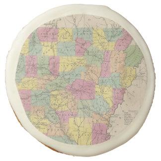 Vintage Map of Arkansas (1853) Sugar Cookie