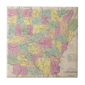 Vintage Map of Arkansas (1853) Tile
