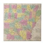 Vintage Map of Arkansas (1853) Tiles