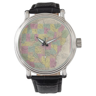 Vintage Map of Arkansas (1853) Wrist Watch