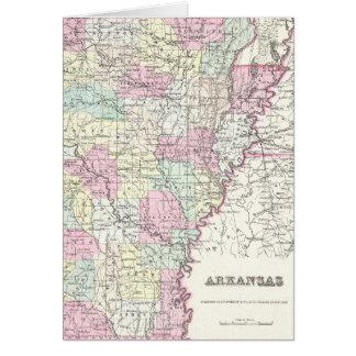 Vintage Map of Arkansas (1855) Card