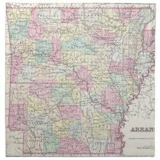 Vintage Map of Arkansas (1855) Cloth Napkin