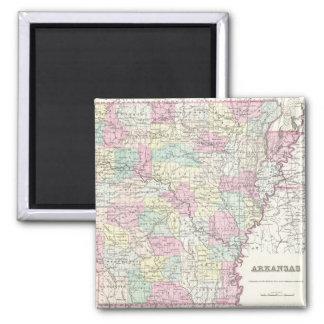 Vintage Map of Arkansas (1855) Magnet