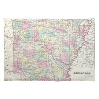 Vintage Map of Arkansas (1855) Placemat