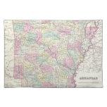 Vintage Map of Arkansas (1855) Placemats