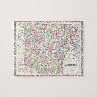 Vintage Map of Arkansas 1855 Jigsaw Puzzles