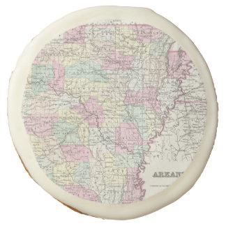 Vintage Map of Arkansas (1855) Sugar Cookie