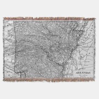 Vintage Map of Arkansas (1911) Throw Blanket