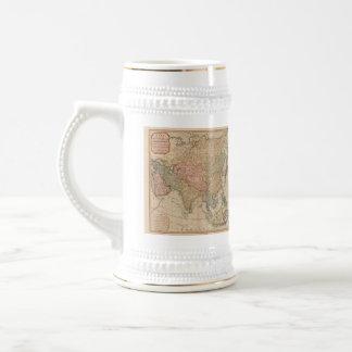 Vintage Map of Asia (1799) Beer Stein