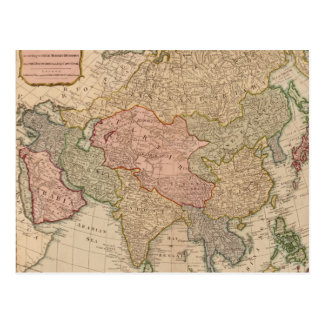 Vintage Map of Asia (1799) Postcard