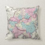 Vintage Map of Asia (1855) Pillow