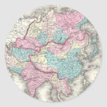 Vintage Map of Asia (1855) Sticker