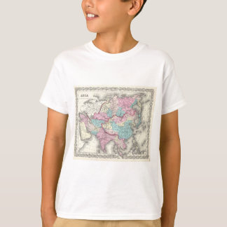 Vintage Map of Asia (1855) T-Shirt