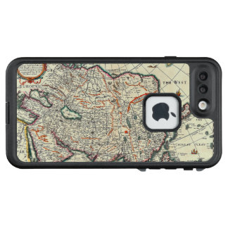 Vintage Map of Asia Circa 1626 LifeProof FRĒ iPhone 7 Plus Case