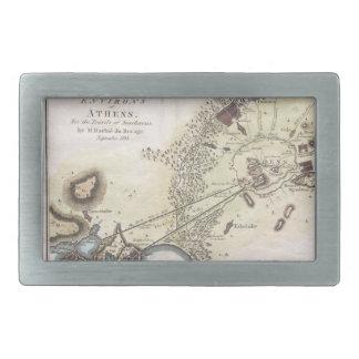 Vintage Map of Athens (1784) Belt Buckle