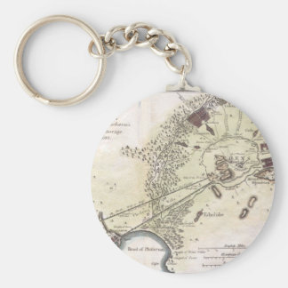 Vintage Map of Athens (1784) Keychain