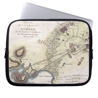Vintage Map of Athens (1784) Laptop Computer Sleeves