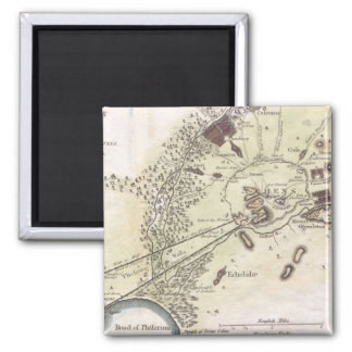 Vintage Map of Athens (1784) Magnet