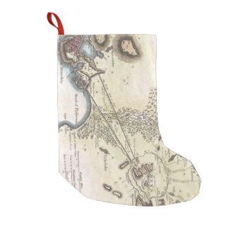 Vintage Map of Athens (1784) Small Christmas Stocking