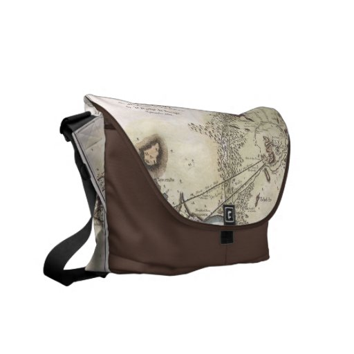 Vintage Map of Athens (1784) Messenger Bags