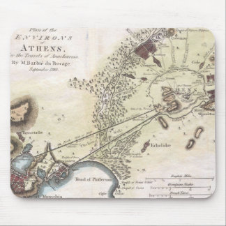 Vintage Map of Athens (1784) Mouse Pad