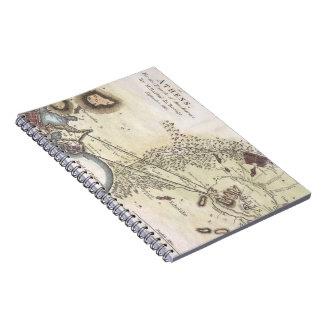 Vintage Map of Athens (1784) Spiral Notebooks