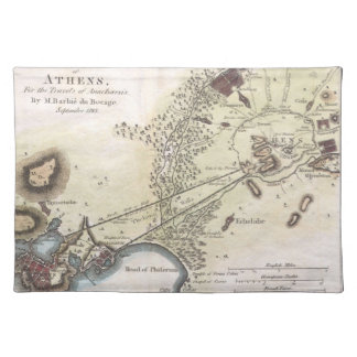 Vintage Map of Athens (1784) Placemat