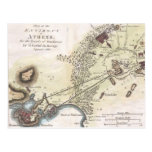 Vintage Map of Athens (1784) Post Cards