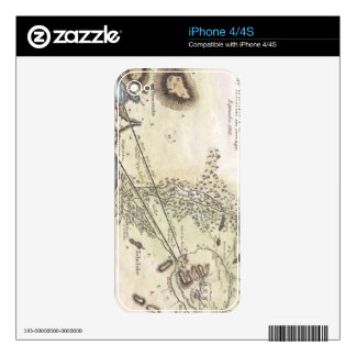 Vintage Map of Athens (1784) Decal For The iPhone 4S