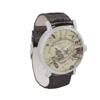 Vintage Map of Athens (1784) Wristwatch