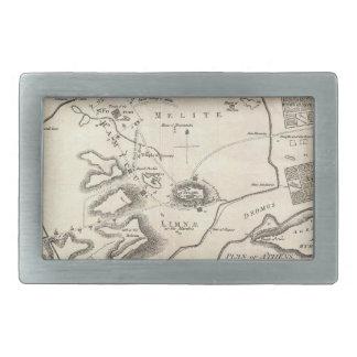 Vintage Map of Athens Greece (1784) Belt Buckle