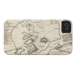Vintage Map of Athens Greece (1784) iPhone 4 Cover