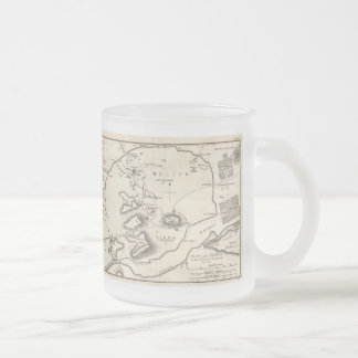 Vintage Map of Athens Greece (1784) Frosted Glass Coffee Mug