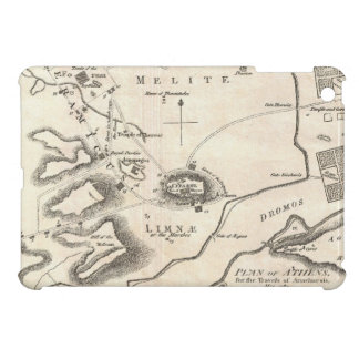 Vintage Map of Athens Greece (1784) iPad Mini Cover