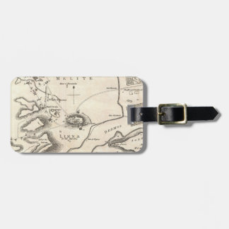 Vintage Map of Athens Greece (1784) Tags For Bags